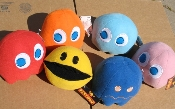 Pac Man Plush set - official Namco product