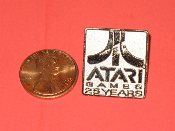 Atari 25 Years lapel pin