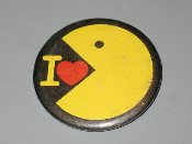 I Love Pac-Man vintage pinback button