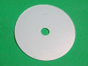 "Clear Dust Disc, 3 1/8"" diameter, reproduction"