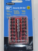 33 pc. Security (Torx) Bit Set