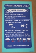 NOS Space Invaders part II cocktail instruction sheet