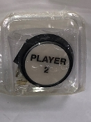 "Player 2 button, white, 2"" round w/lamp"
